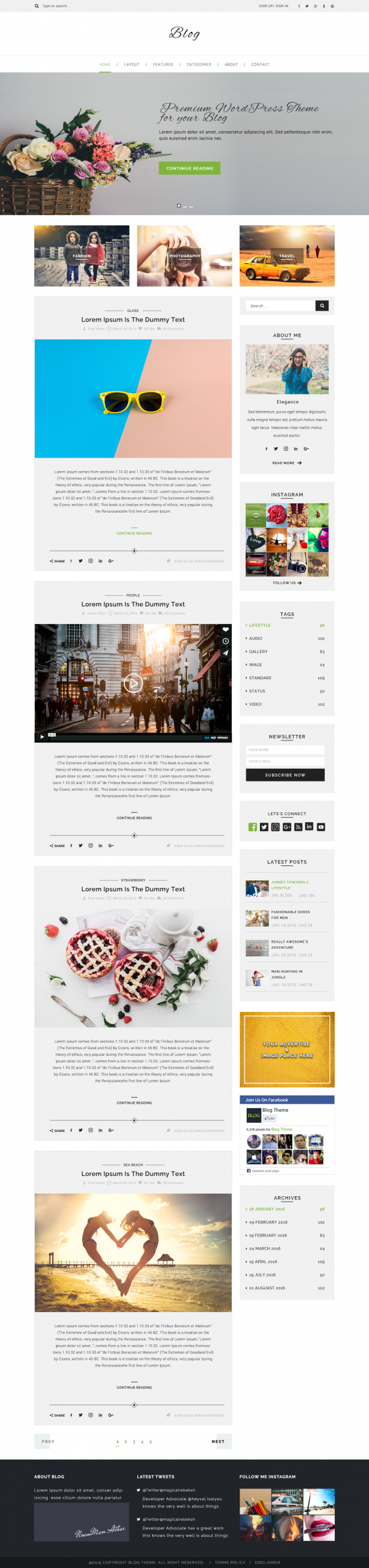 Multipurpose Blog WordPress Theme
