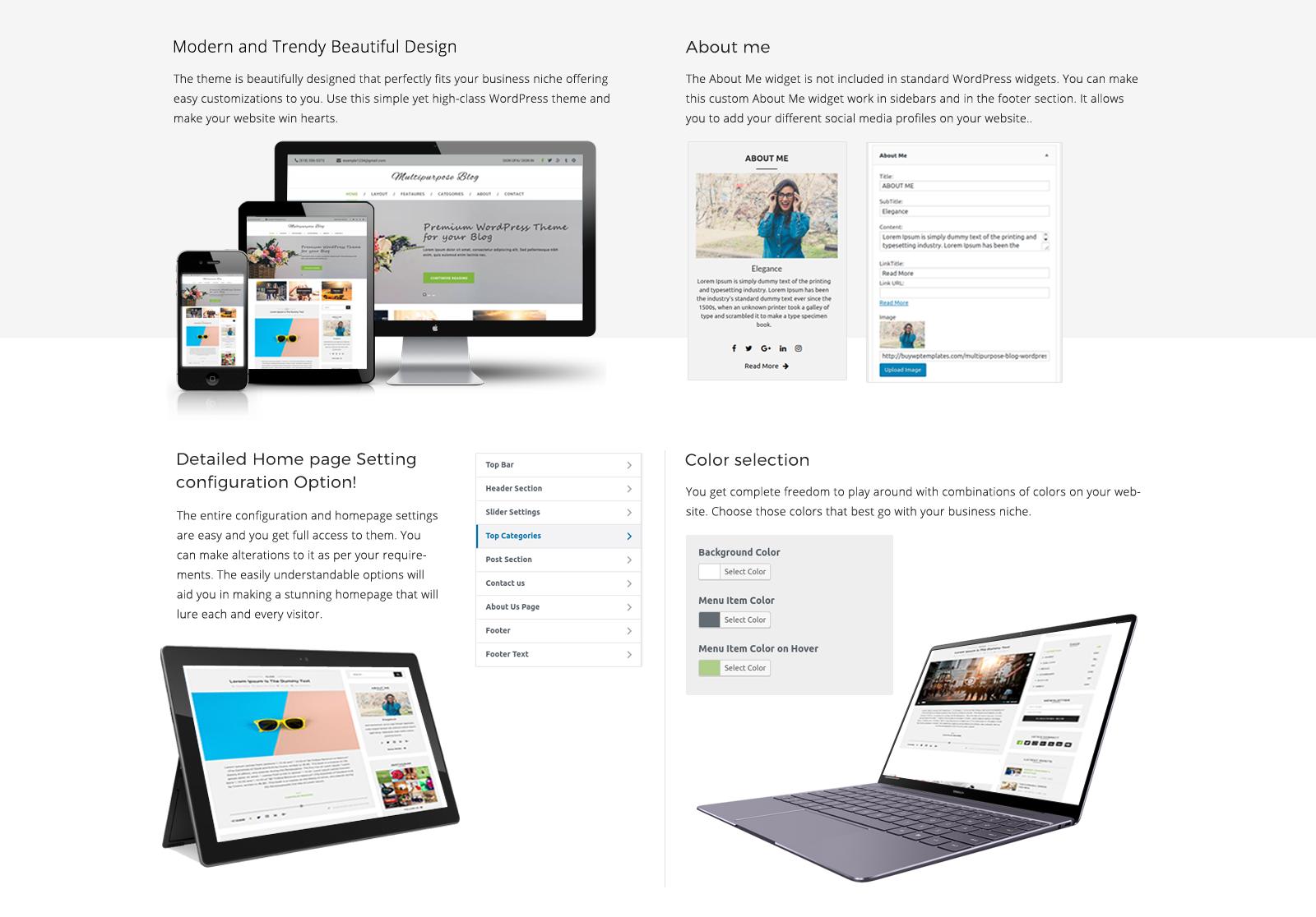 Multipurpose Blog Theme