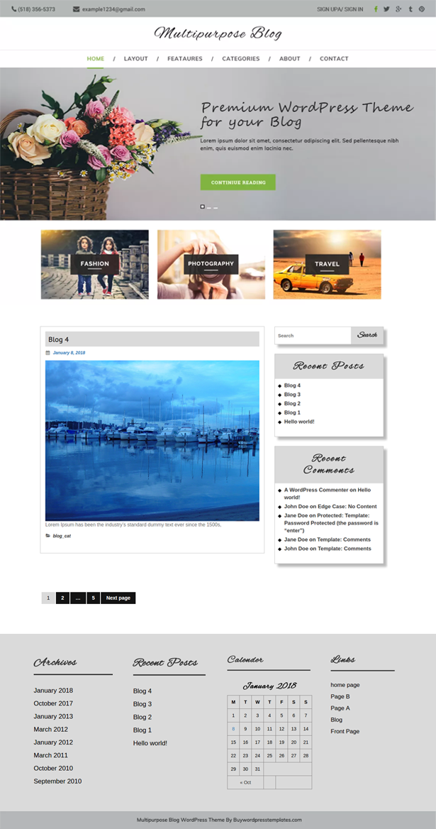 Multipurpose Blog Theme