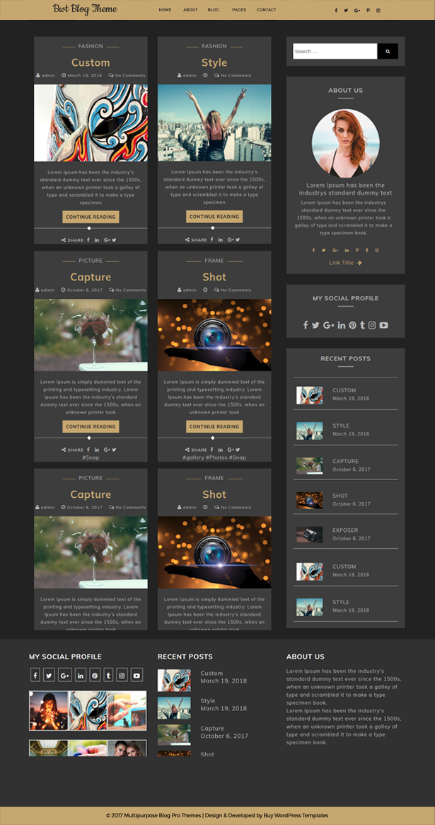 Best Free Ultimate Blogger WordPress Theme For Bloggers Of Today - Buy wordpress templates