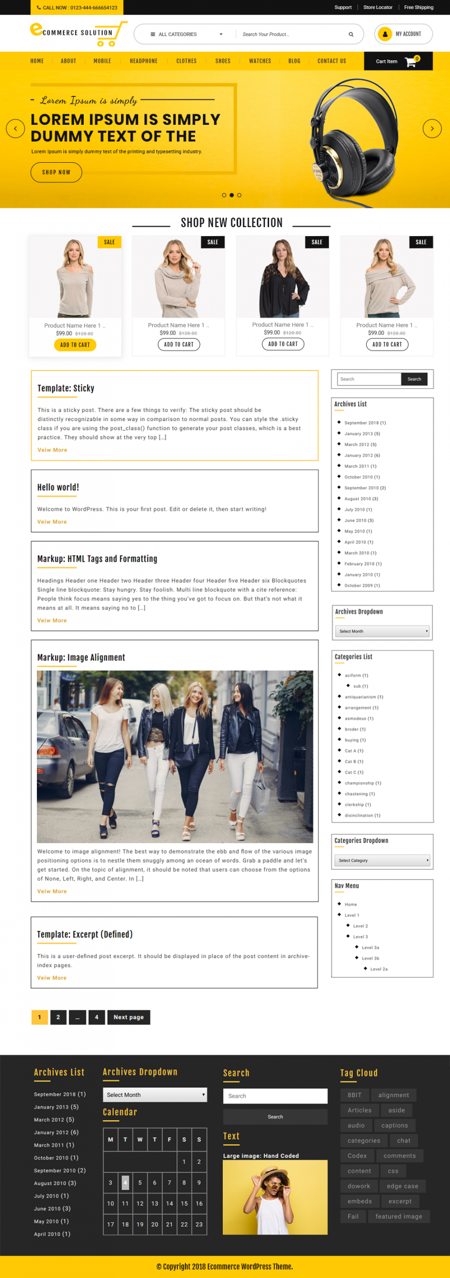 Free Ecommerce WordPress Theme