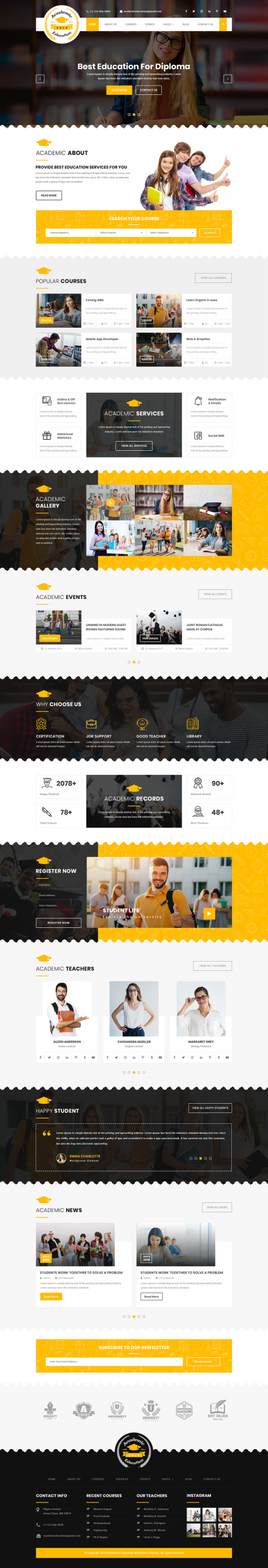 Academic WordPress Template