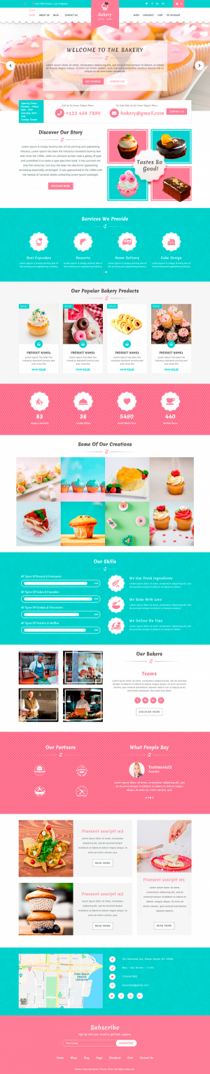 Bakery WordPress Template