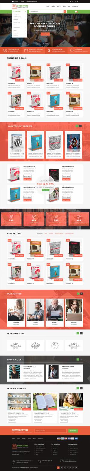 Bookstore WordPress Template