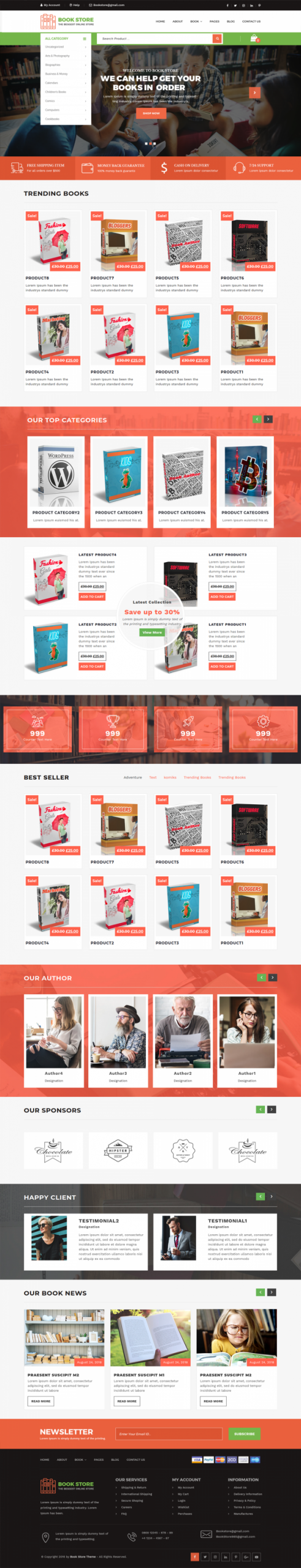 Bookstore WordPress Template