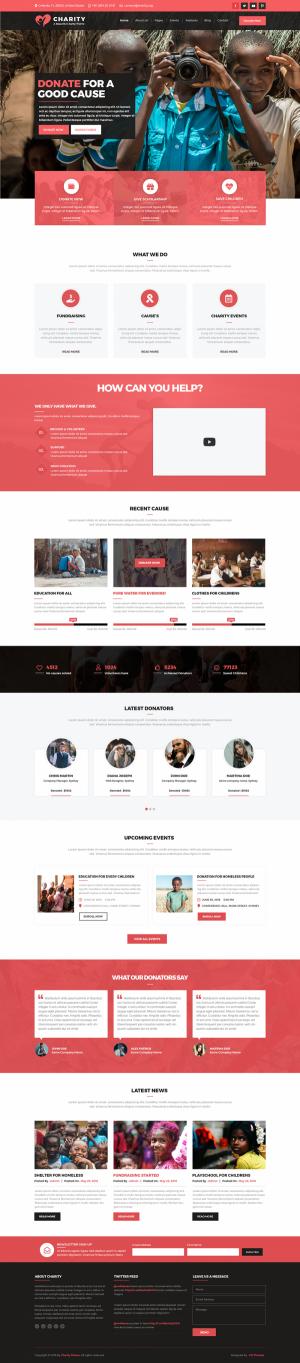 Charity WordPress Template