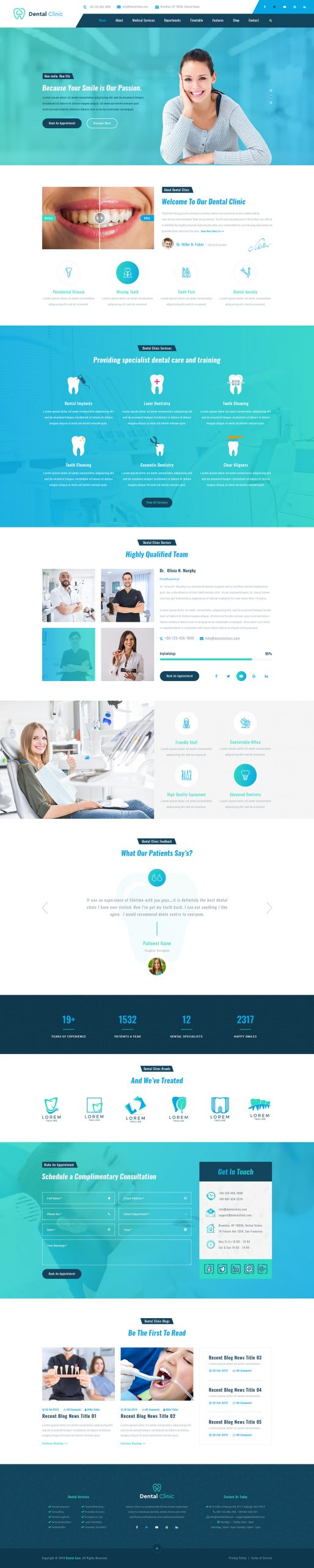 Dentist WordPress Template