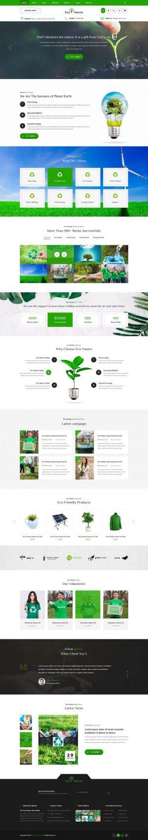 Eco Nature WordPress Template