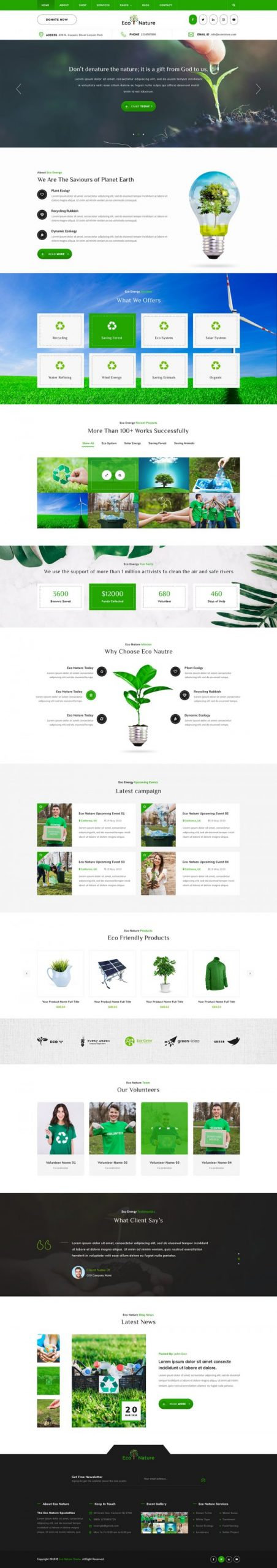 Eco Nature WordPress Template