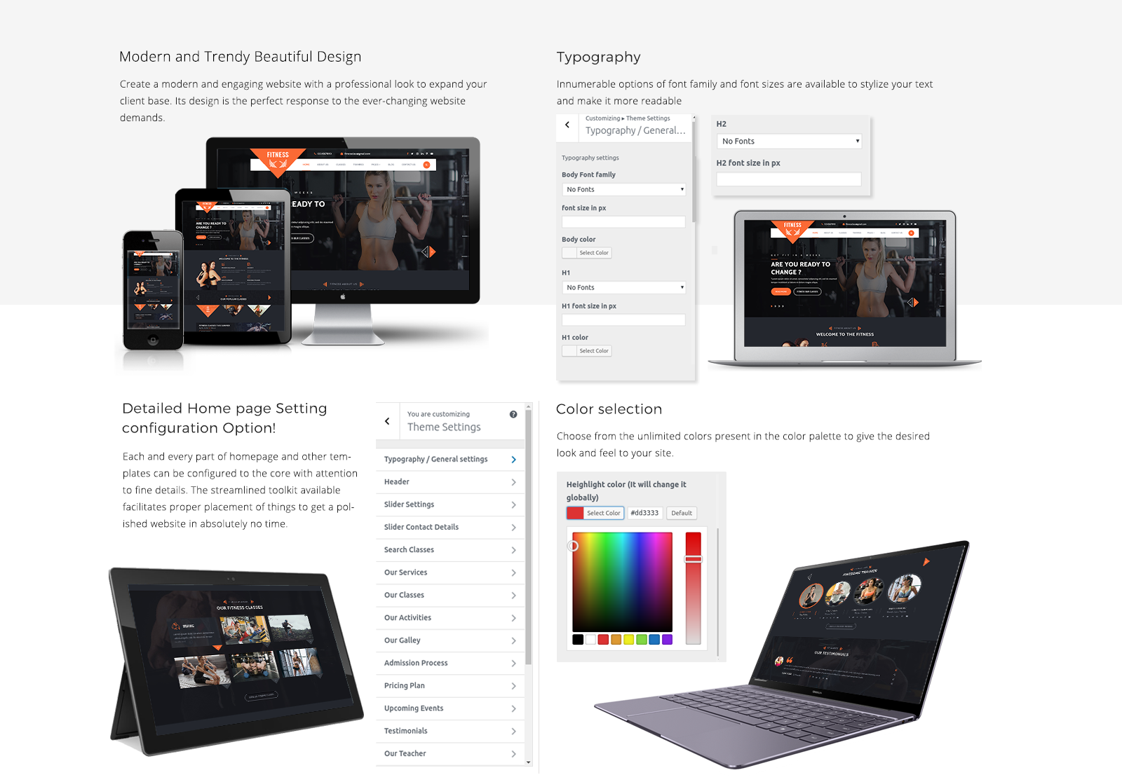 Fitness WordPress Template Responsive