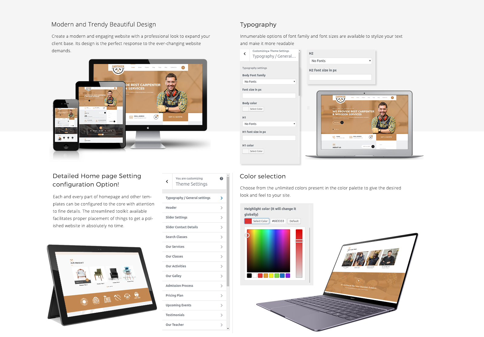 Furniture WordPress Template Responsive