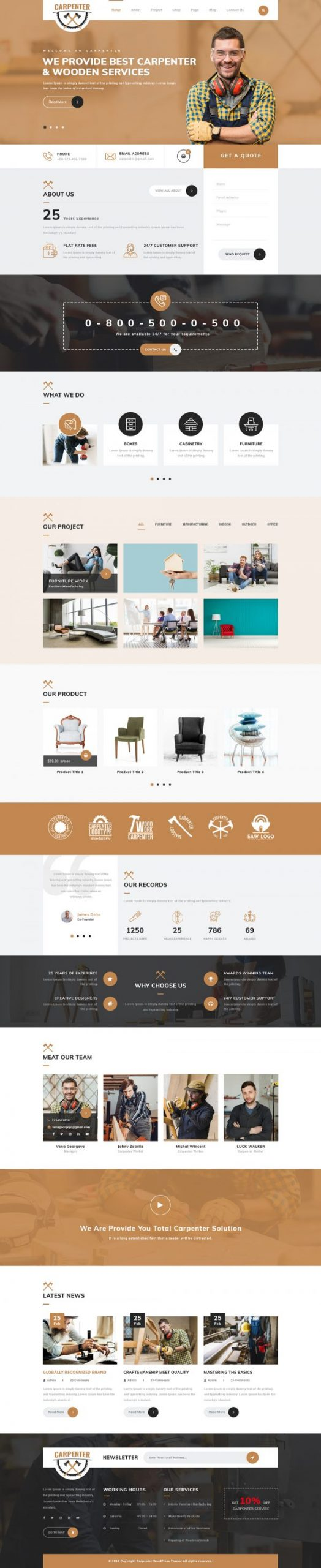 Furniture WordPress Template