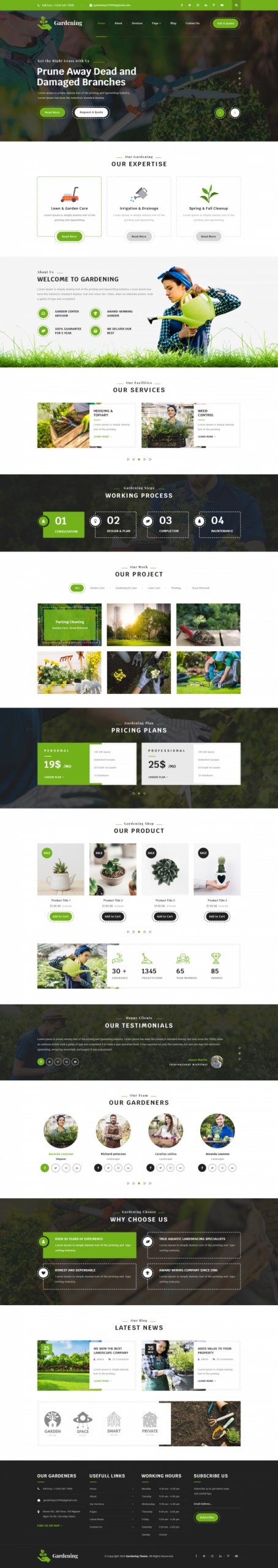 Gardening WordPress Template