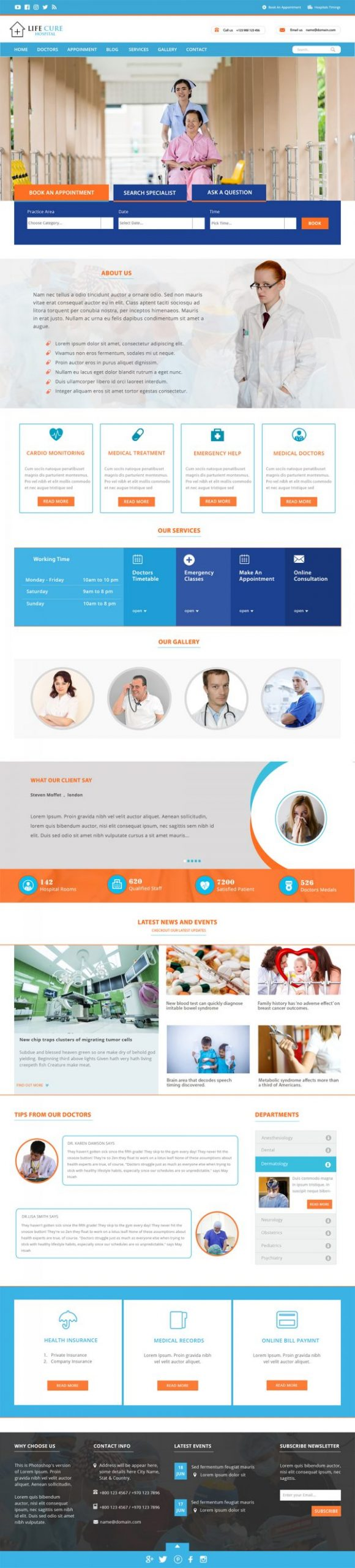 Hospital WordPress Template