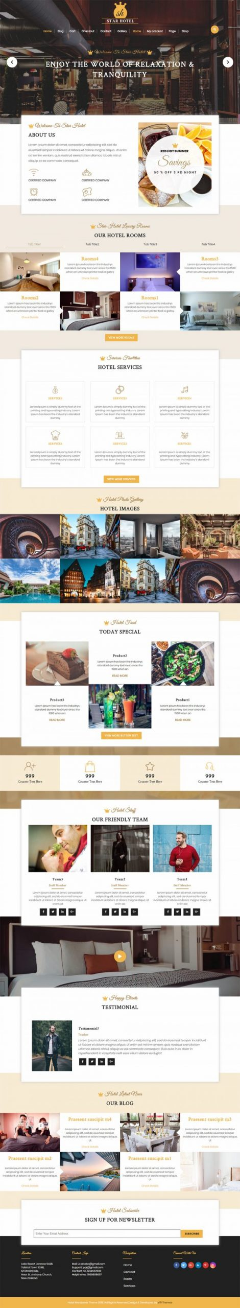 Hotel WordPress Template