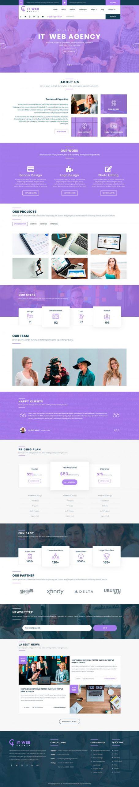 IT Company WordPress Template
