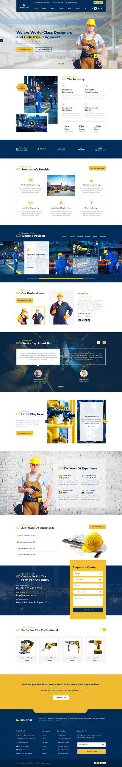 Industrial WordPress Template