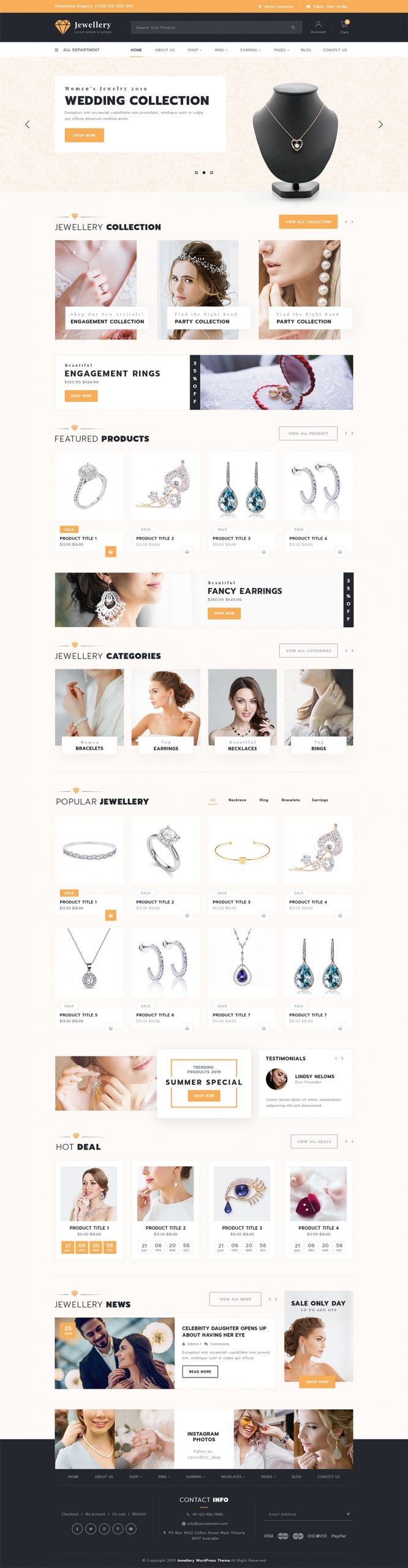 Jewellery WordPress Template
