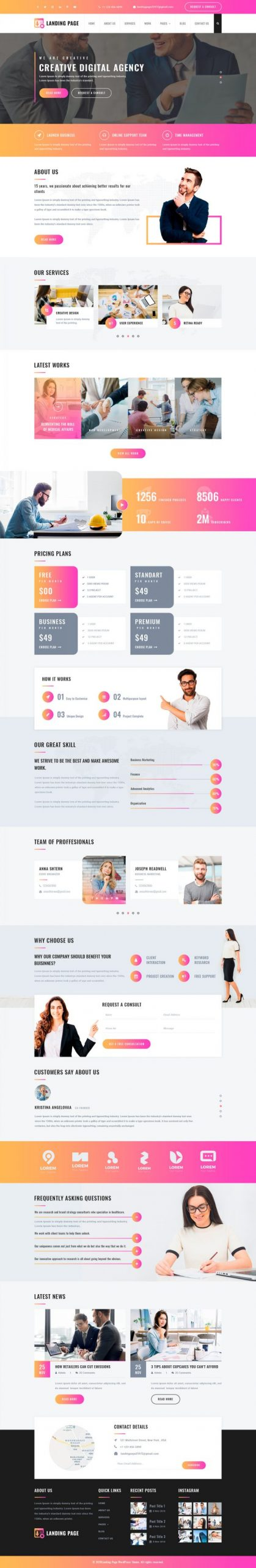 Landing Page WordPress Template