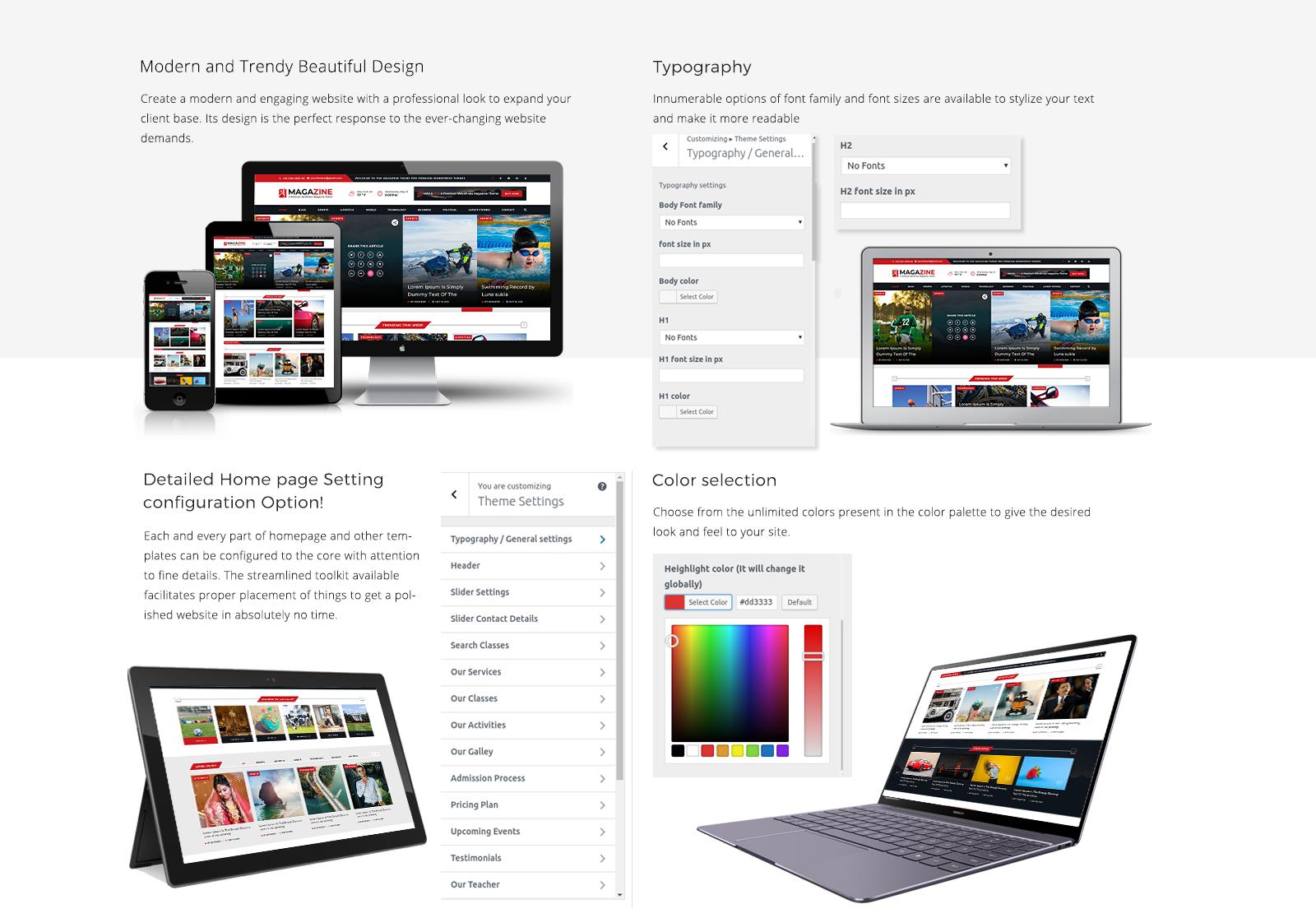 Magazine WordPress Template Responsive