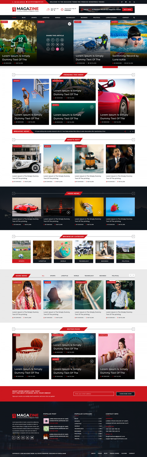 Magazine WordPress Template