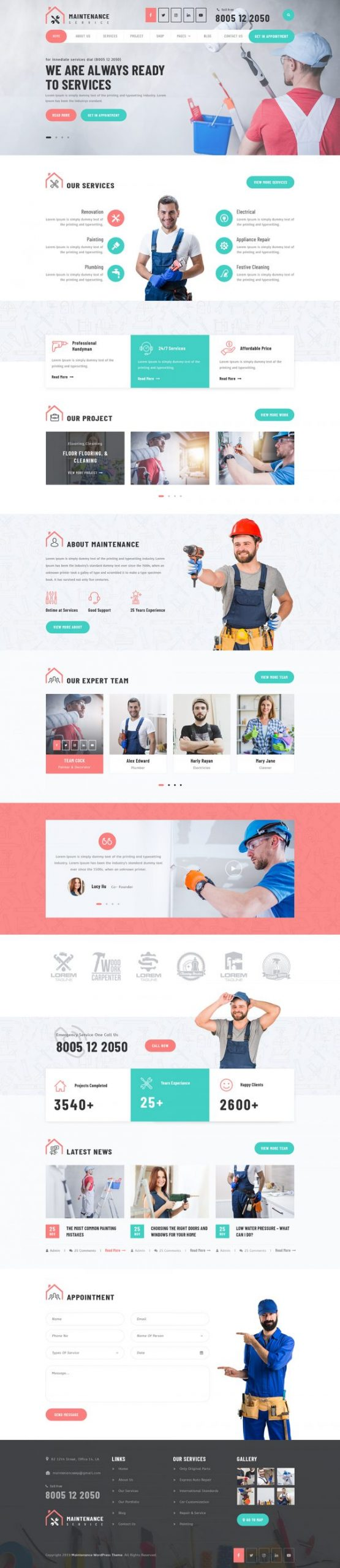 Maintenance WordPress Template
