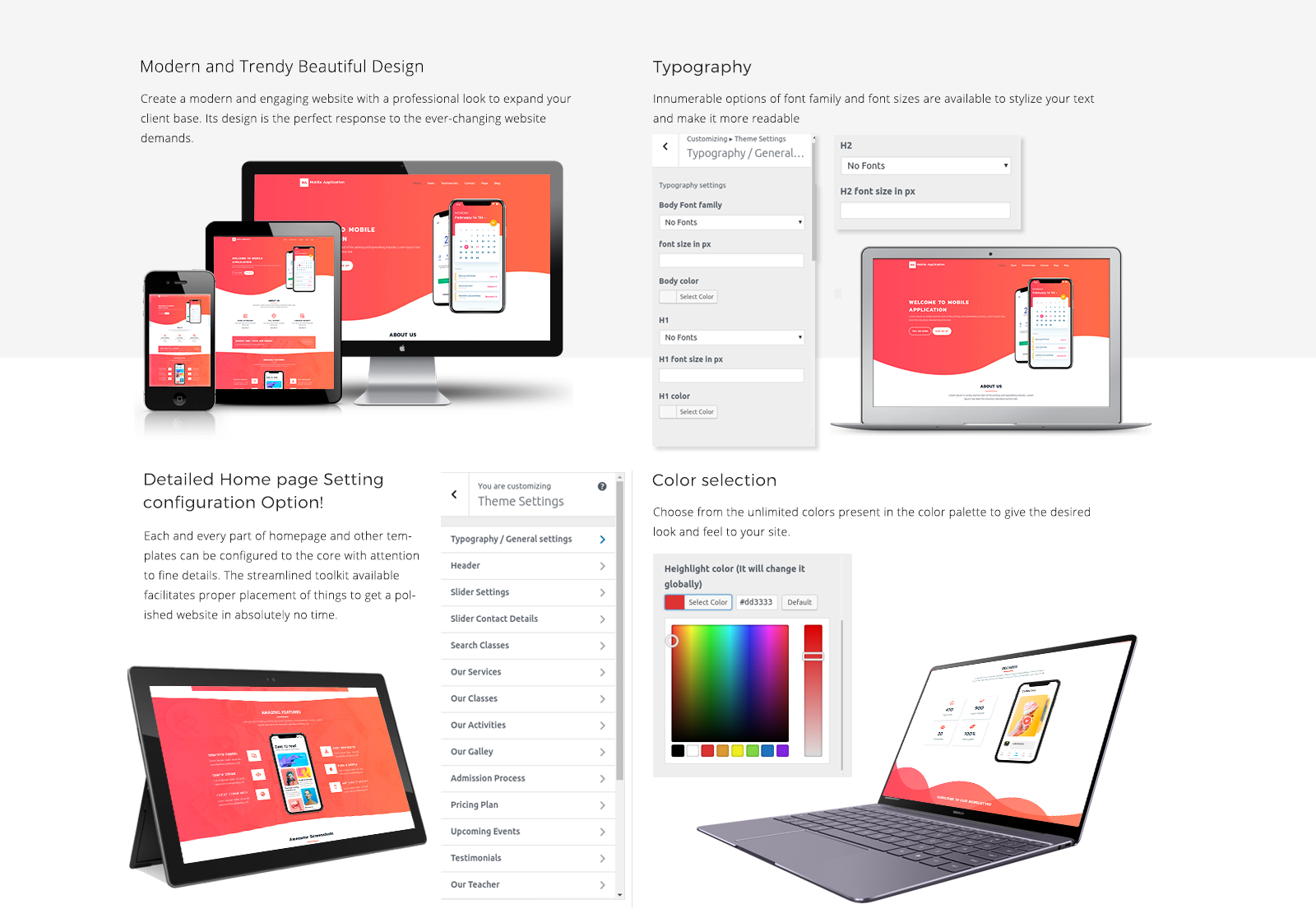 Mobile App WordPress Template Responsive