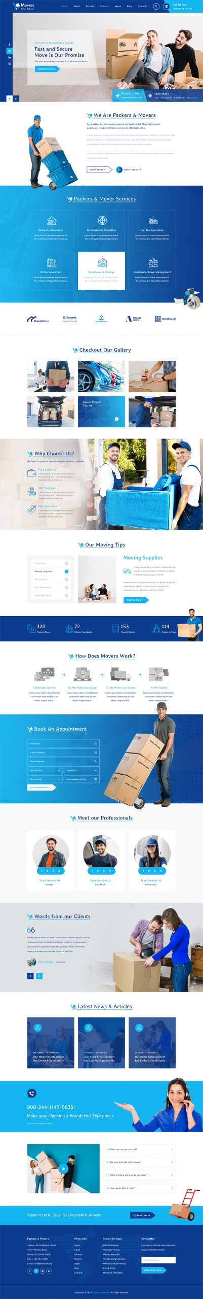 Moving Company WordPress Template