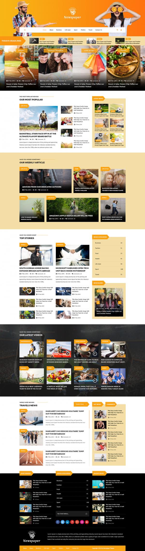 Newspaper WordPress Template