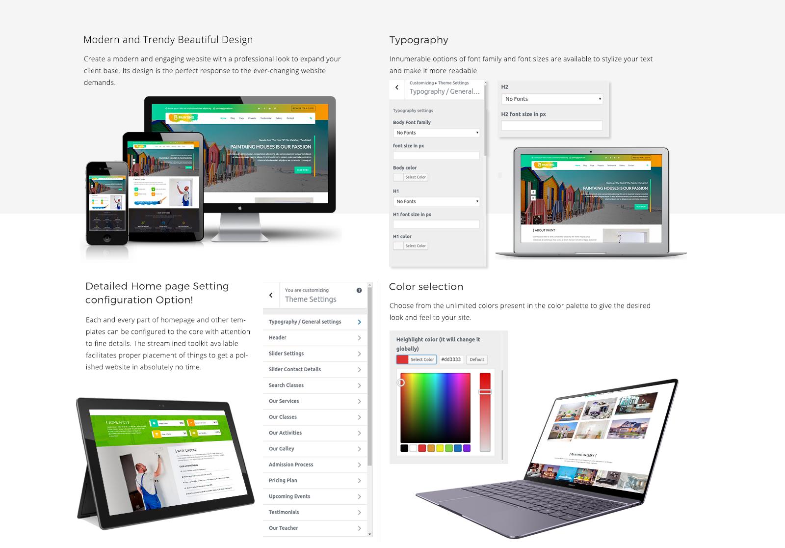 Painter WordPress Template Responsive