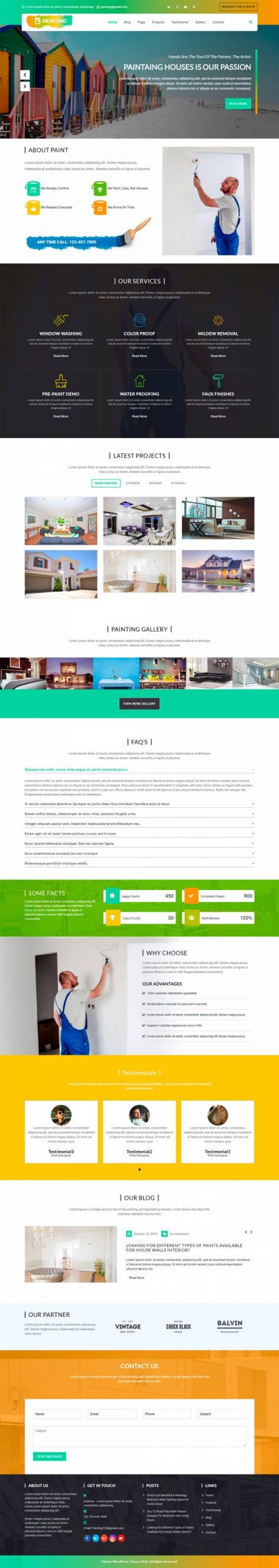 Painter WordPress Template