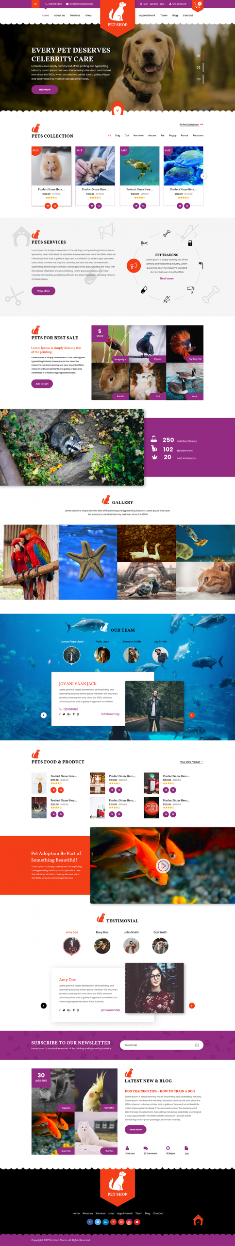 Pet WordPress Template