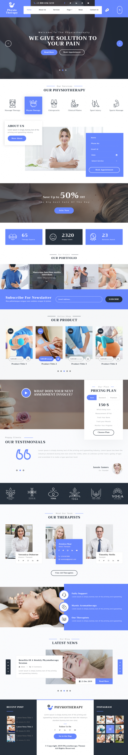 Physiotherapy WordPress Template