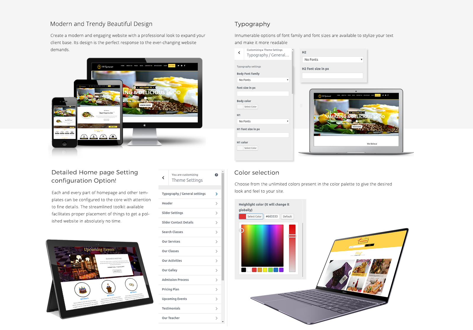 Restaurant WordPress Template Responsive