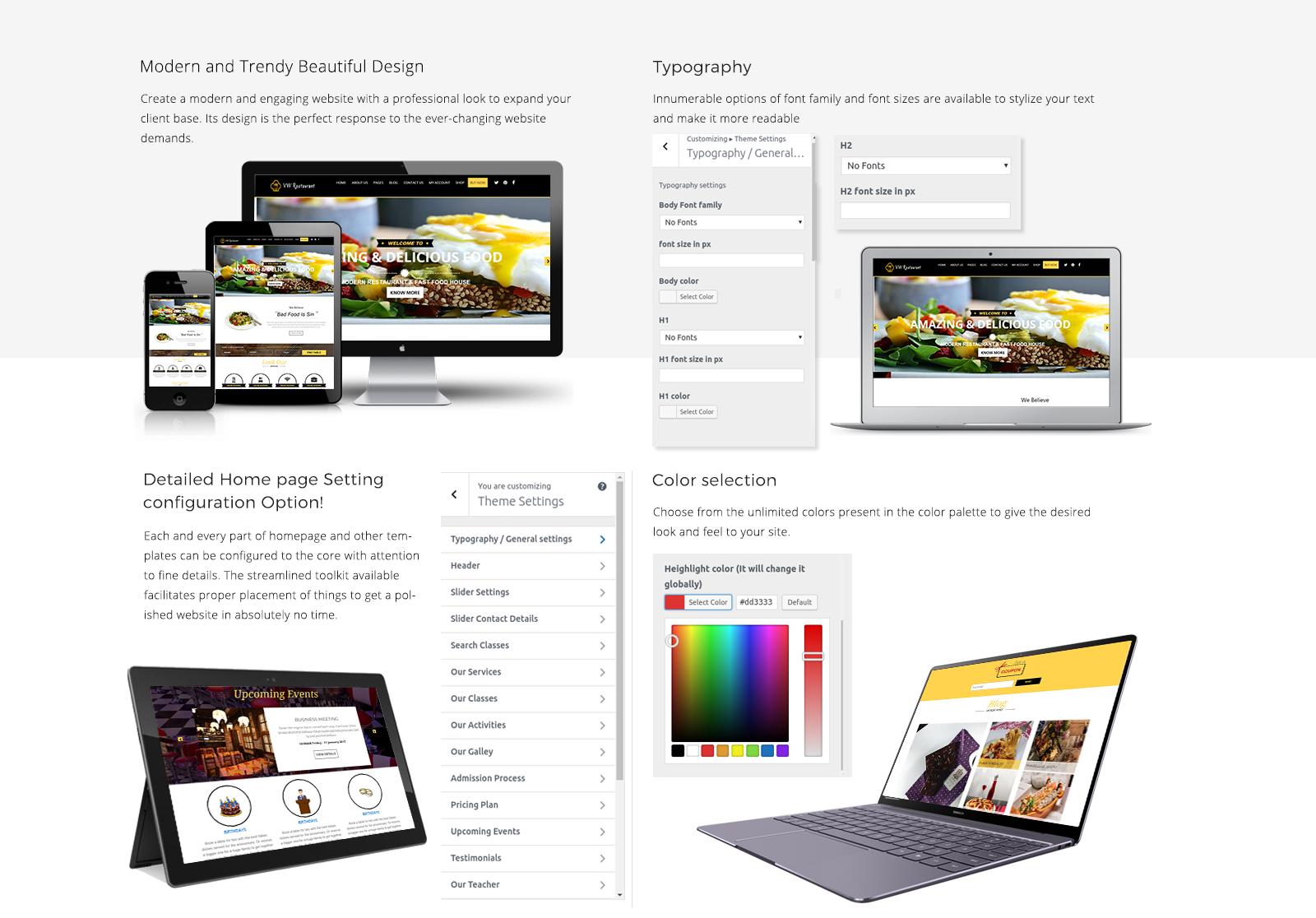 Restaurant WordPress Template Responsive