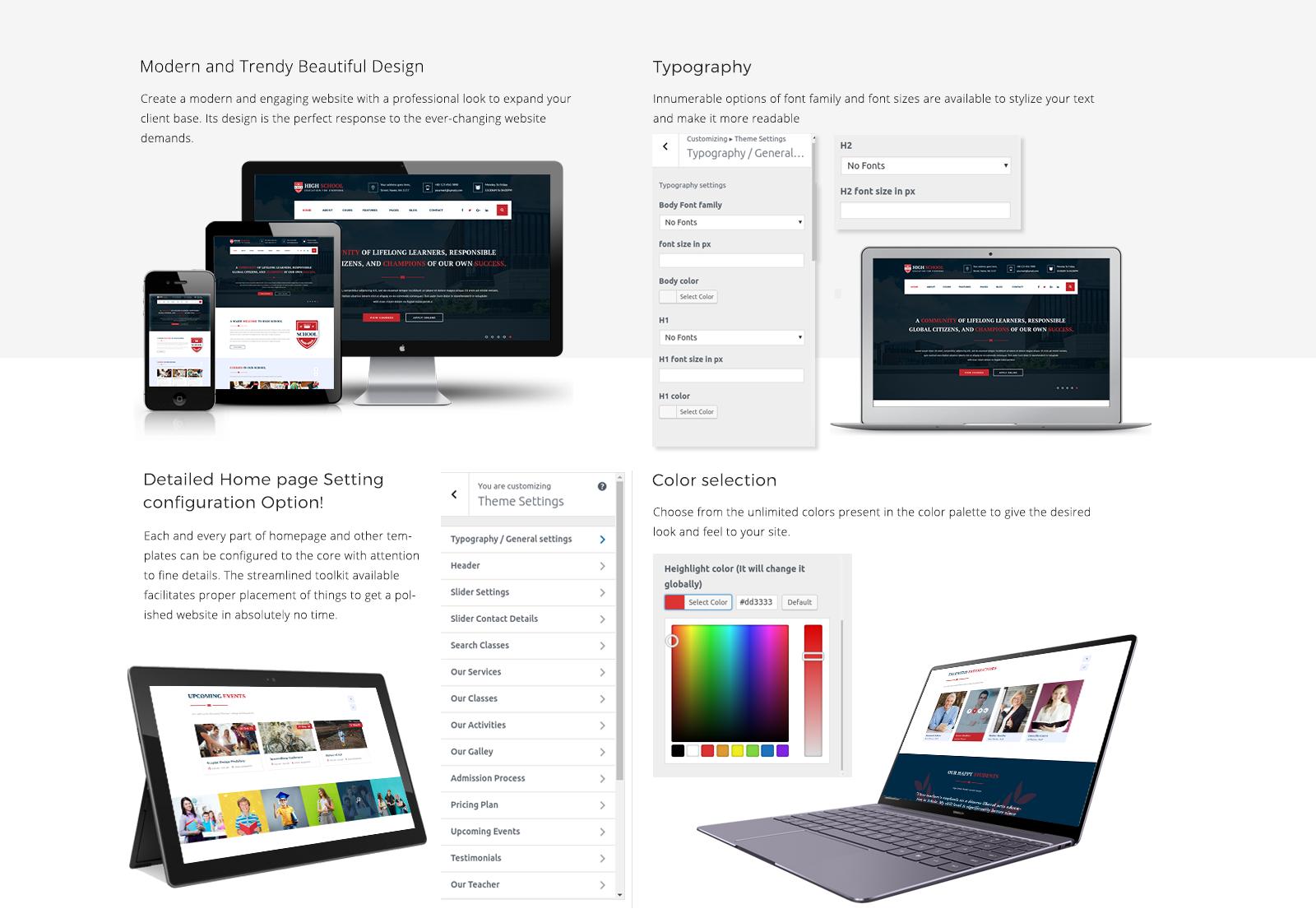 School WordPress Template Responsive