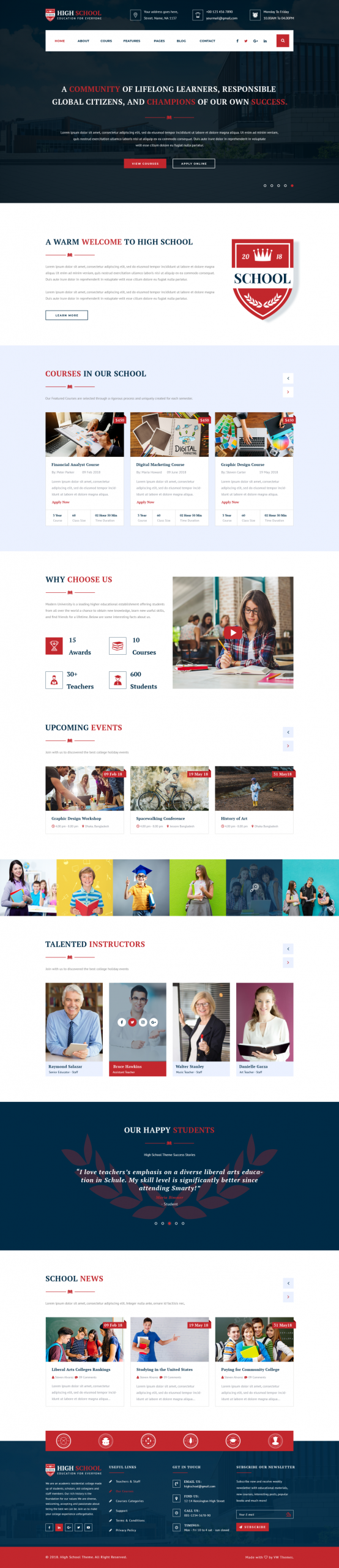 School WordPress Template
