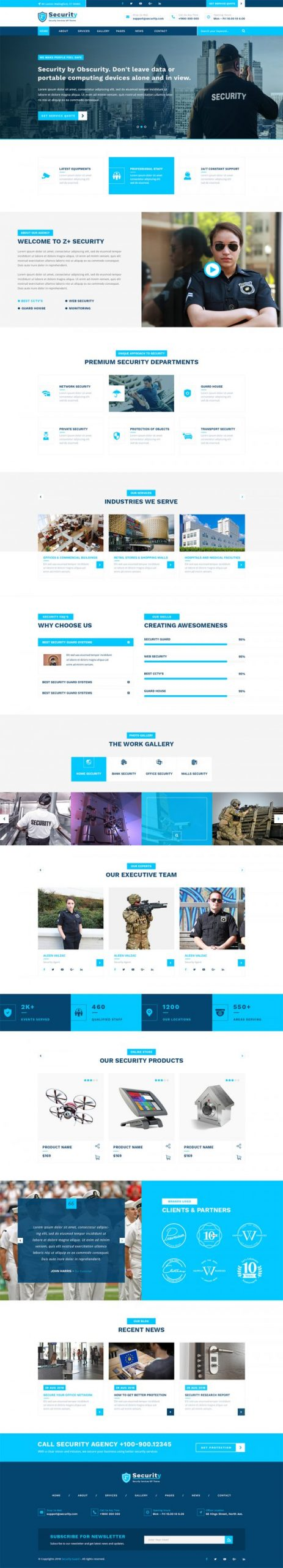 Security Guard WordPress Template