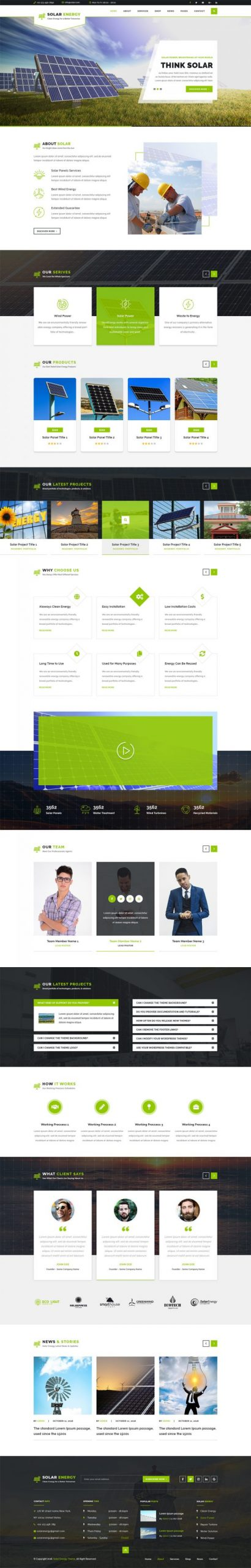 Solar Energy WordPress Template