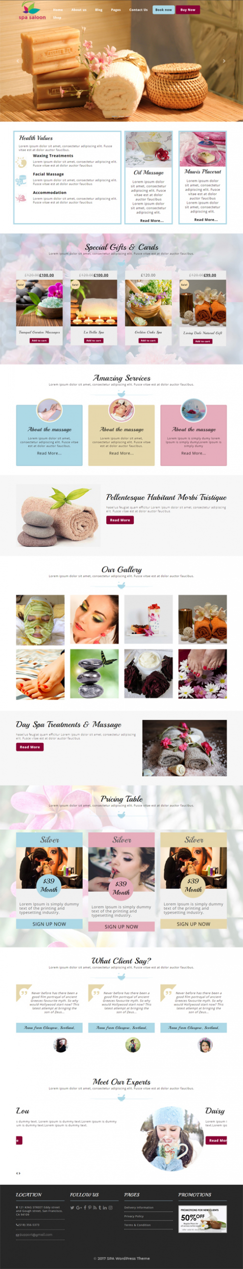 Spa WordPress Template