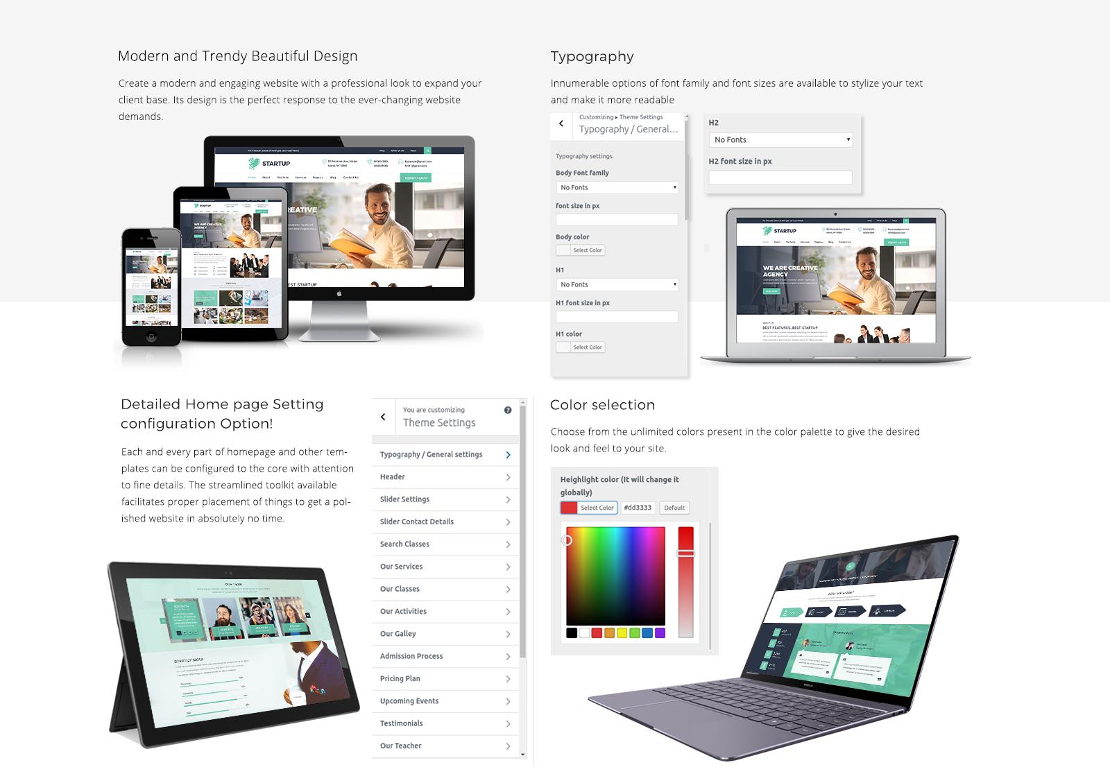Startup WordPress Template Responsive