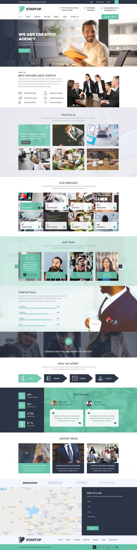 Startup WordPress Template