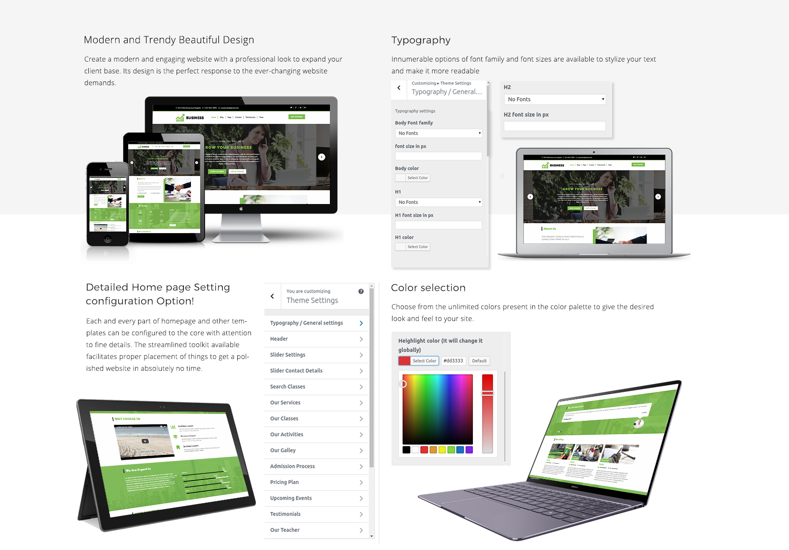 WordPress Template For Business Responsive