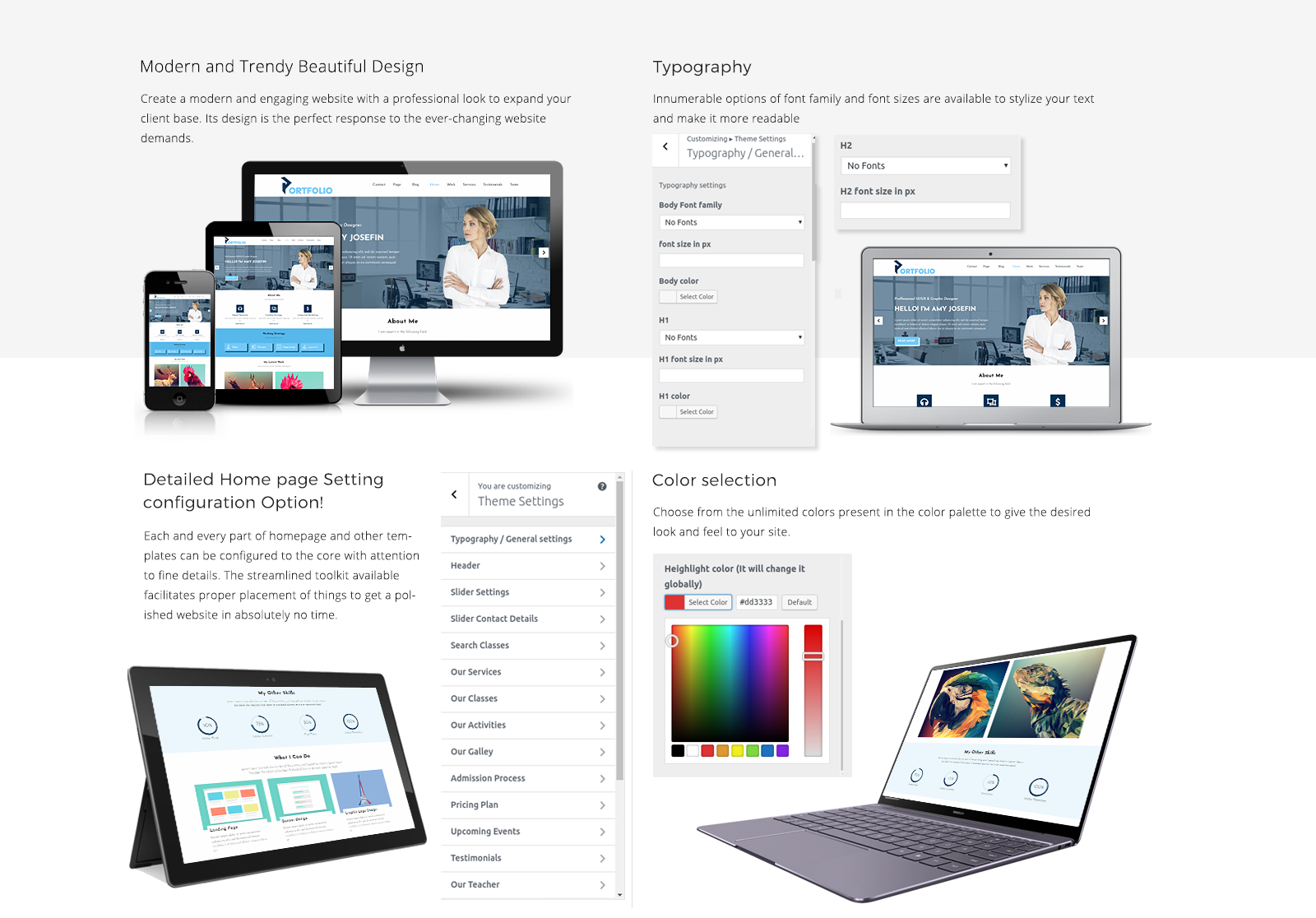 Wordpress Portfolio Template Responsive