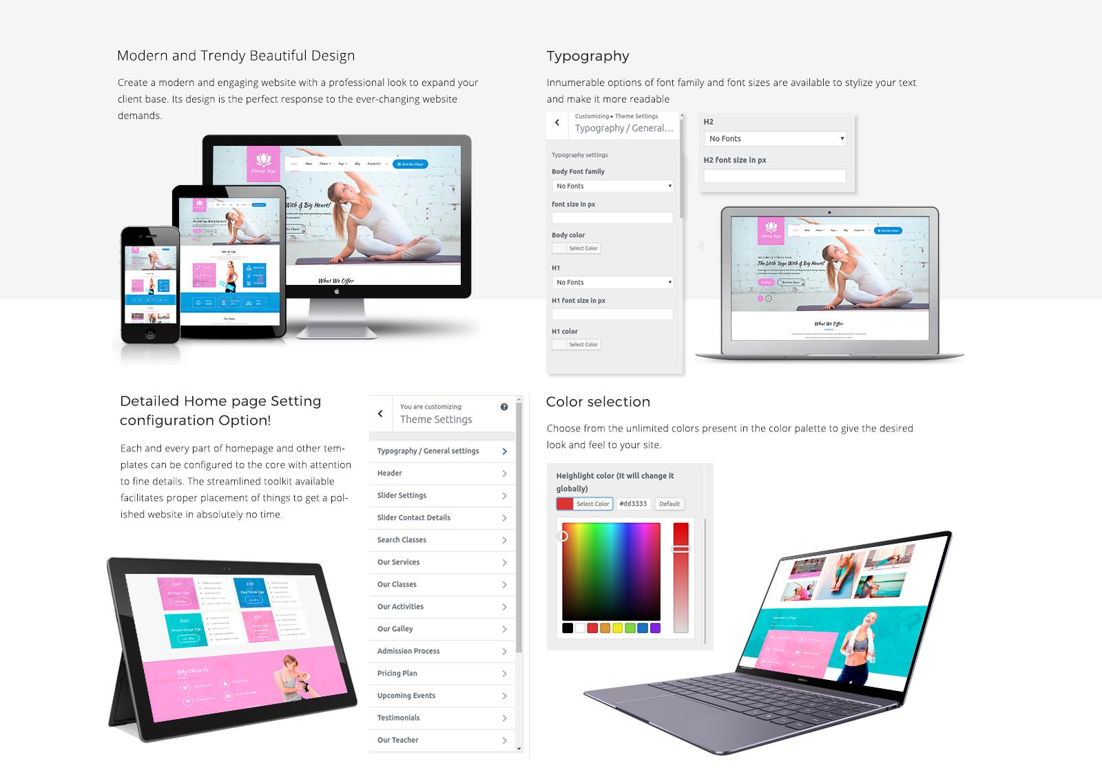 Yoga WordPress Template Responsive