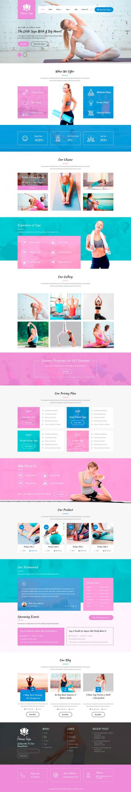Yoga WordPress Template