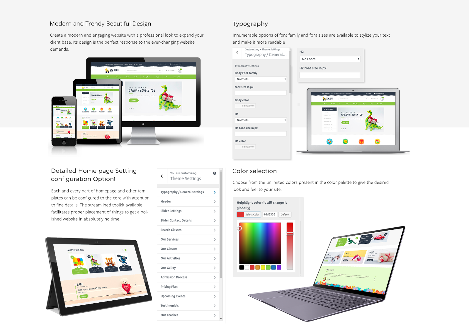 kids WordPress Template Responsive