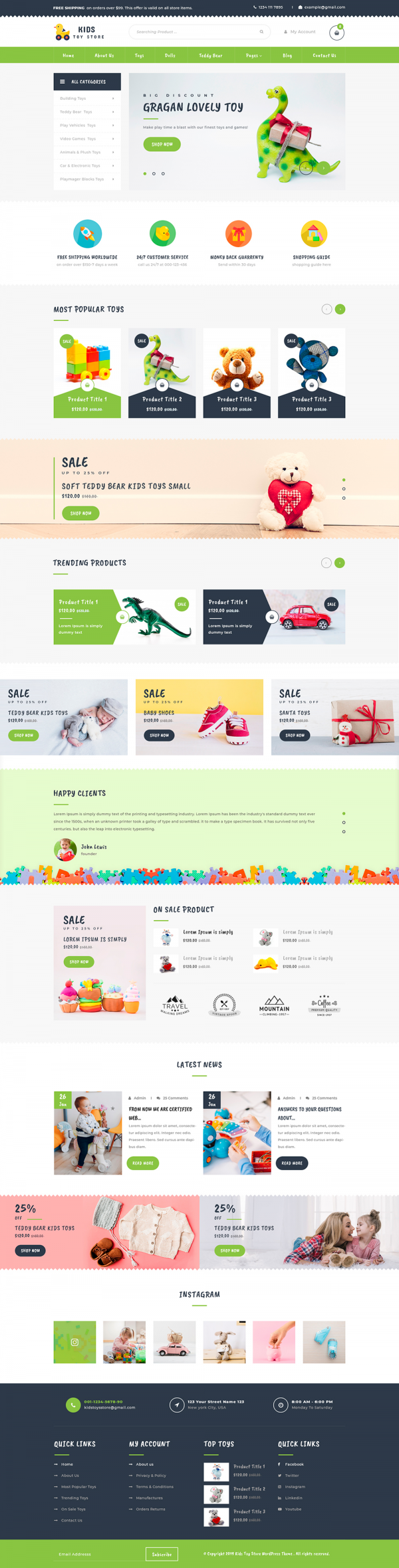 kids WordPress Template